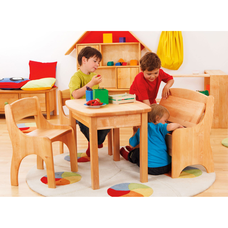 Kinderbank truhe aus erlenholz - Truhe kinderzimmer ...